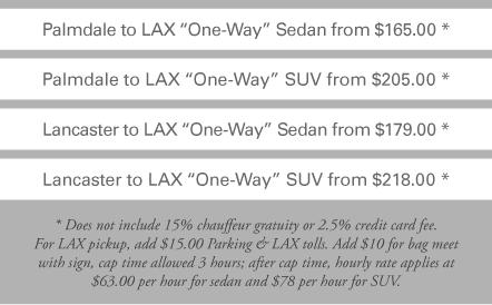 Palmdale limo service price
