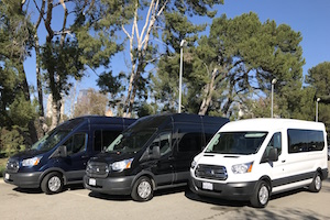 chauffeured Sprinter vans